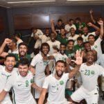 بحضور ولي العهد محمد بن سلمان المنتخب يتأهل لمونديال روسيا 2018