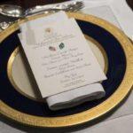 صورة قائمة طعام غداء العمل بين ولي العهد وترامب