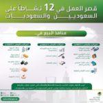 قصر العمل في 12 نشاط على السعوديين والسعوديات