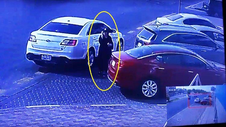 فيديو في السعودية فتاة تسرق سيارة !