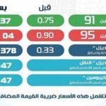 بدءًا من ١٢ يناير 2019 أسعار البنزين الجديدة.