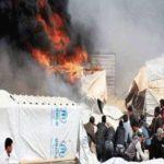 سوريَّة تحرق نفسها وأطفالها في مخيم الركبان بسبب الجوع