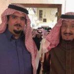 الأمير عبد العزيز بن فهد مع عمّه خادم الحرمين في قصر العوجا