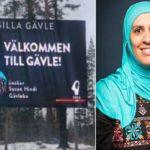 جدل في السويد بسبب صورة محجبة ترحب بالزوّار