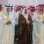 الأمراء يؤدُّون صلاة الميت على الأميرة الجوهرة بنت عبدالعزيز بن مساعد