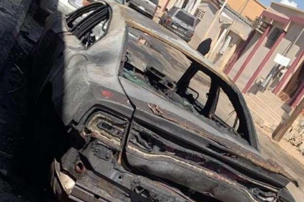 شبهة جنائية.. مهندسة ديكور تُفاجأ بحريق مركبتها أمام منزلها
