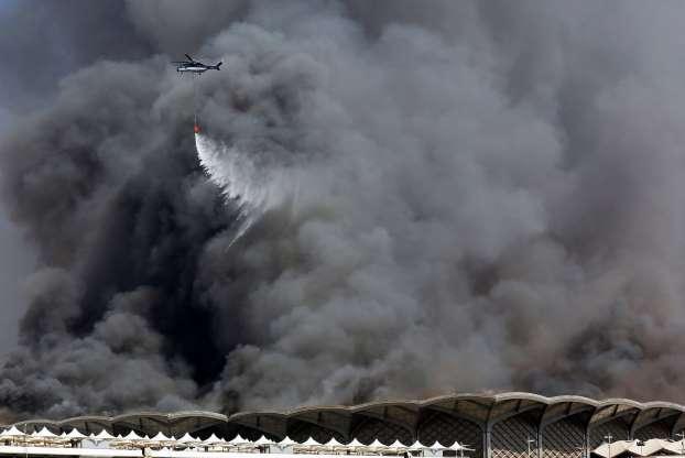 11 مصـاباً في حريق محطة قطار الحرمين