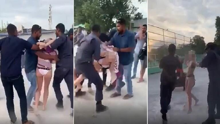 فيديو: شرطة المالديف تقبض على سائحة بريطانية لارتدائها البكيني